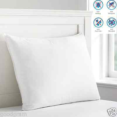 4-Pack: Anti Bed-Bug & Dust Mite Cotton-Rich Zippered Pillow