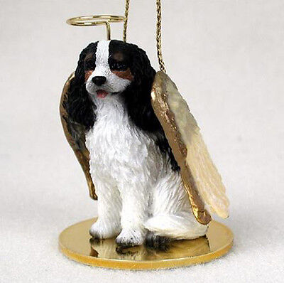 - CAVALIER KING CHARLES (TRI) ANGEL DOG CHRISTMAS ORNAMENT HOLIDAY Figurine Statue