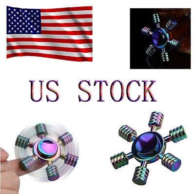 5pcs Colourful Hand Finger Gyro Fidget Spinner Toys EDC Focus For adults Gift US