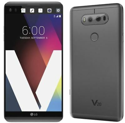 NEW LG V20 H918 - 64GB - Titan (T-Mobile) 4G LTE Android Smartphone Dual Camera