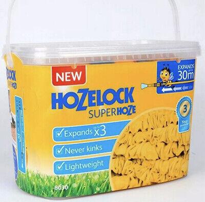 Hozelock 8030 Superhose Expandable Expanding Garden Hose Pipe Watering 30m