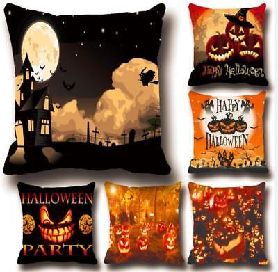 Halloween Party Decorations Easy (US Halloween Pillow Case Sofa Waist Comfortable Cushion Cover Home Decor)