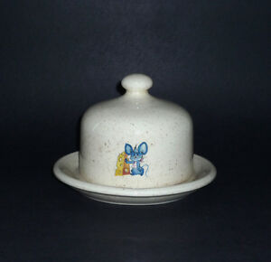 Blue Mouse Covered Cheese / Butter Dish : Excellent Condition Cambridge Kitchener Area image 1