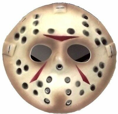 Jason Vorhees Face Friday the 13th Hockey Mask Killer Halloween Costume NEW - Hockey Mask Killer Halloween