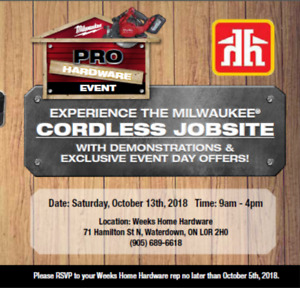 Milwaukee Tools EPIC! 1 Day Sale (Weeks Home Hardware) Oct. 13th
