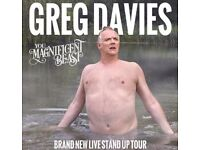 GREG DAVIES - 1 x Ticket, Tuesday 24th October 2017 (19:00), Theatre Royal Nottingham