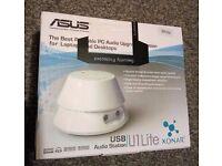 Asus Xonar U1 Lite USB Portable Audio Station NEW
