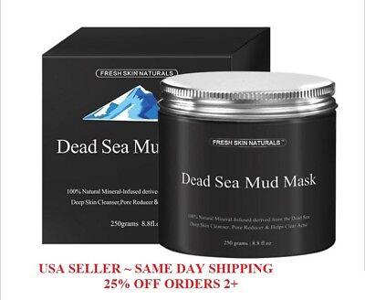 Fresh Skin Naturals Dead Sea Mud Mask Facial Cleanser  Anti Aging  Tone  8 8Oz