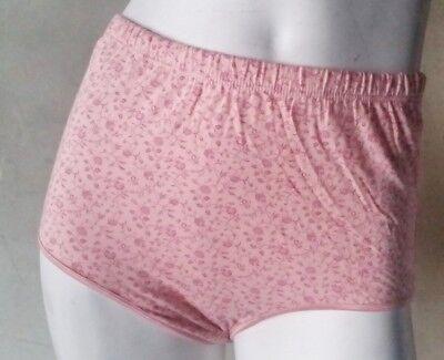 Floral Print Panties - Women Plus-Size Cotton Panties Full-Coverage Brief Floral Print Underwear Size10