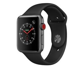 Apple Watch S3 Cellular EE 42mm Space Grey Alu Black Band