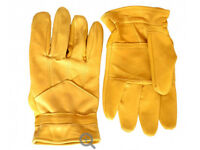 Leather gardening gloves with trim on the top!!! Various sizes!!! M L XL