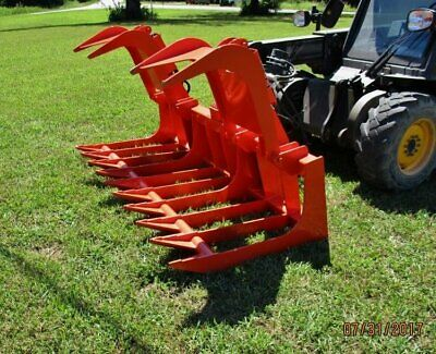 Bobcat Skid Steer Attachment - 72 Heavy Duty Root Grapple Bucket - Ship 199