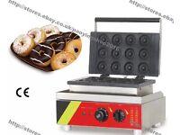 Commercial mini donut baker