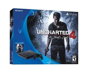 Uncharted 4 PS4 slim 500gb console