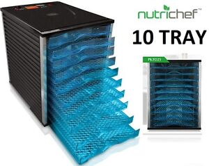 NEW NUTRICHEF COMMERCIAL GRADE 10 TRAY FOOD DEHYDRATOR WITH TIME