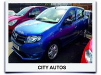 DACIA SANDERO 2013, 74,000 MILES 1.5 DIESEL MANUAL 5 DOOR HATCHBACK BLUE