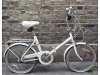 Vintage shopper folding bike RALEIGH need some TLC - easy to finish DIY project - SHOP DECORATION