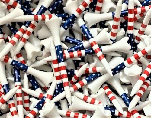 Pride 2 3/4 Evolution Stars and Stripes USA American Flag 2.75 Golf Tees