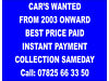 CARS WANTED!!!!! SIMPLY CALL OR TEXT WITH DETAIL Ashington