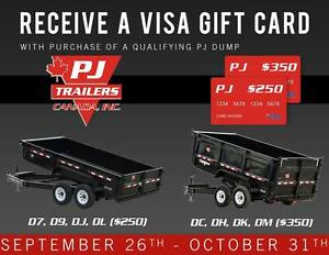 Get a Visa Gift Card on Select Dump Trailers