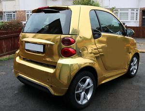 Im looking to have a Smart car wrapped in Gold Chrome.
