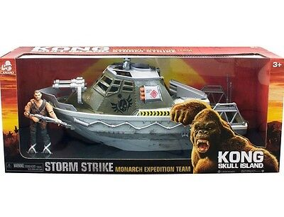 King Kong Skull Island Boat with Action Figure New Toy