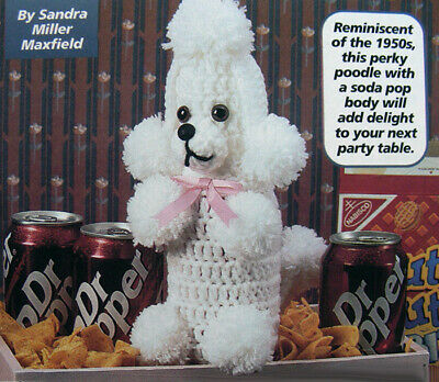Crochet Pattern Only ~ Poodle Dog ~ Covers Soda Can ~ Change Color to Favorite - Patterns To Color