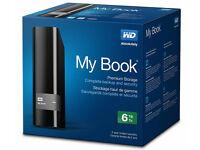 6TB WD MyBook Desktop External USB3 Hard Drive