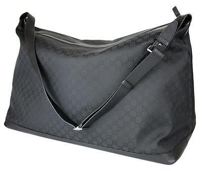 26672bf4926 New Gucci Black Nylon XL Luggage Travel Tote Duffle Bag 105669 1000