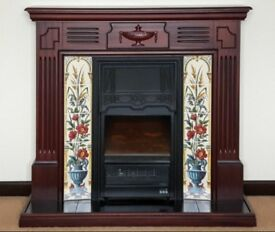 Beautiful electric fire and surround