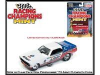 "1:64 Autoworld racing Champions 1973 Plymouth Cuda funny Car /""Snake/"" nuevo /& OVP"
