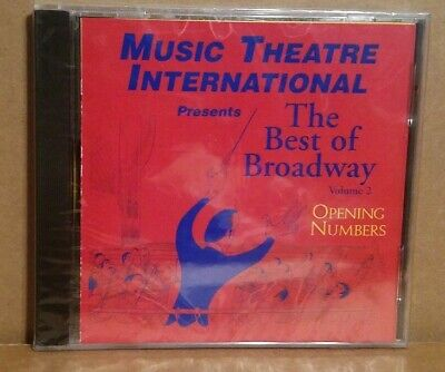The Best Of Broadway Opening Numbers Vol 2 Rare Promotional Compilation CD (Best Musical Numbers Broadway)