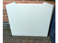2 X WHITE GLASS SPLASH BACKS FOR SALE