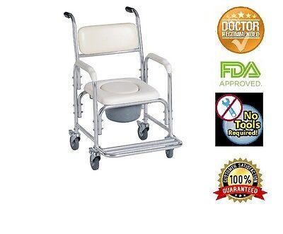 Healthline Trading Aluminum Shower Chair/bedside Commode ...