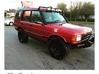Landrover discovery 300tdi off road green laner jacked up Landy Land Rover