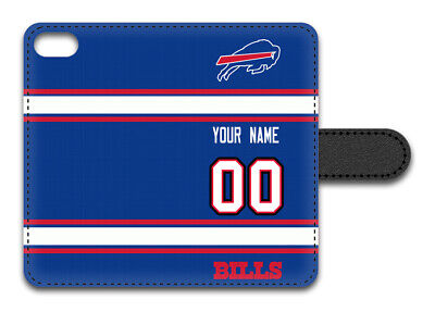 NFL Buffalo Bills Personalized Name/Number iPhone iPod Wallet Case 150111