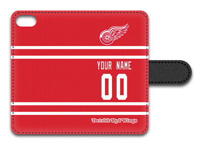 NHL Detroit Red Wings Personalized Name/Number iPhone iPod W