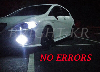 Pair XENON Whites LED Cars Side Light Parking Beam 8SMD Bulbs For Seat Ibiza MK2