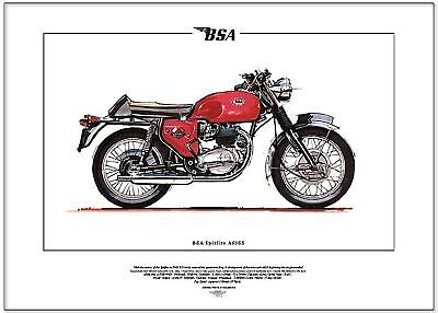 BSA SPITFIRE A65 SS - Motorcycle Fine Art Print - Classic British Motorbike MkIV