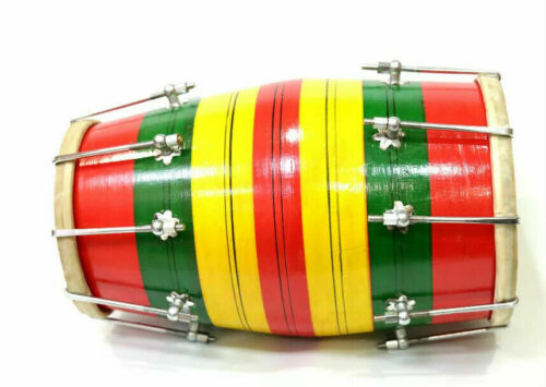 Indian Musical Instrument Wooden Rope Tune Baby Dholak/Dholki Nut And Bolt USA