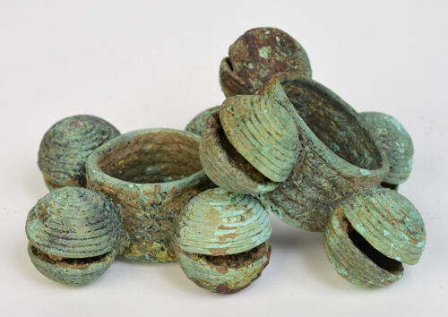 2,000 - 2,500 Years, A Pair of Dong Son Bronze Bangles with Bells