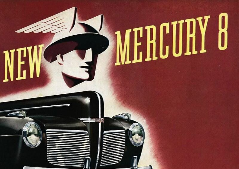 1941 Mercury 8 Brochure Town Sedan Coupe Club Convertible