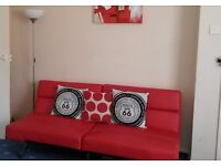 Red Foldable Sofa Bed