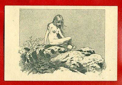 Girl Nude By Fidus   52 Vintage Postcard 3437