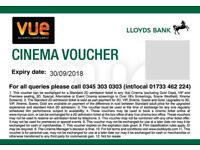 Cinema Tickets (4 units): Vue Cinema