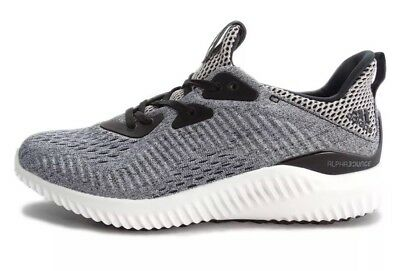 5d739fe954fc Adidas Alphabounce EM J Black Grey Youth Size 6Y Running Shoes Sneaker  BW0579
