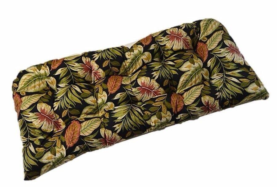 Outdoor Wicker Loveseat / Settee / Bench Cushion - Twilight