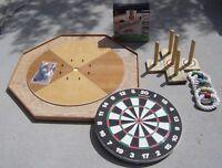 Crocinole Board, Dart Board, Ring Toss, Hole in One
