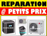 * Réparation thermopompe chauffage fournaise AC 514 - 812- 8940