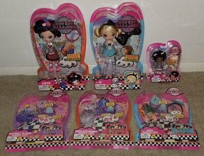 "KUU KUU HARAJUKU Lot of 6 - G & Love 12"" Doll 4"" Baby - Clothes Fashion Pack"